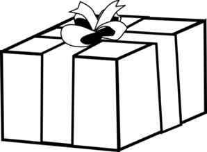 298x219 Transparent Gift Outline Clip Art