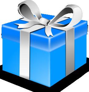 288x298 Blue Gift Clip Art Free Vector 4vector