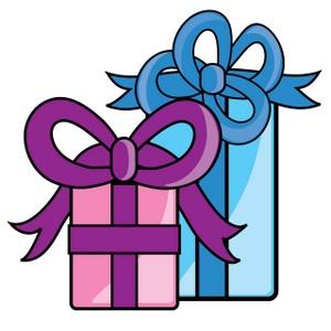 300x300 Clip Art Cute Christmas Gift List Clipart