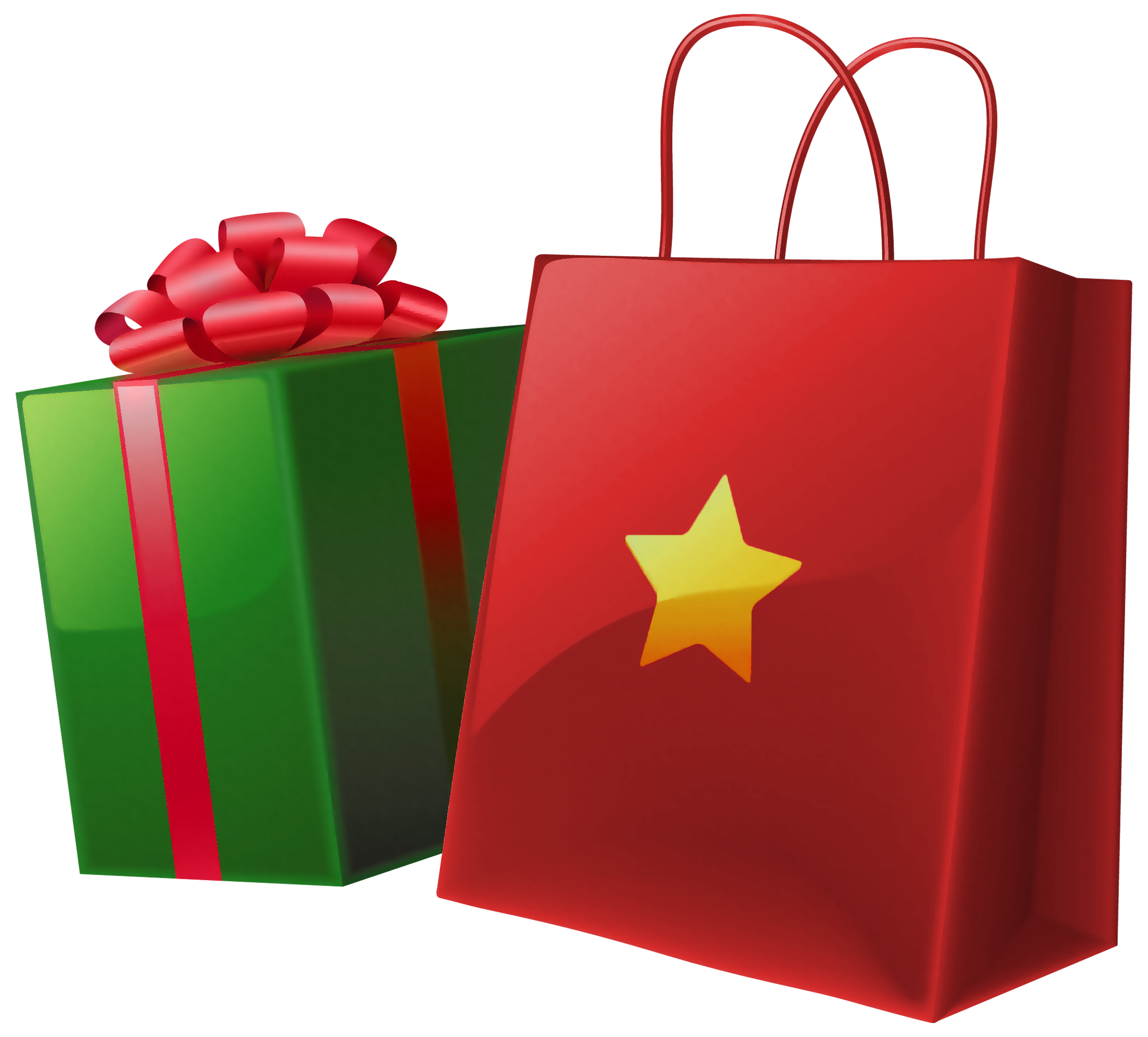 2056x1857 Clipart Of Red Christmas Bag With Toys