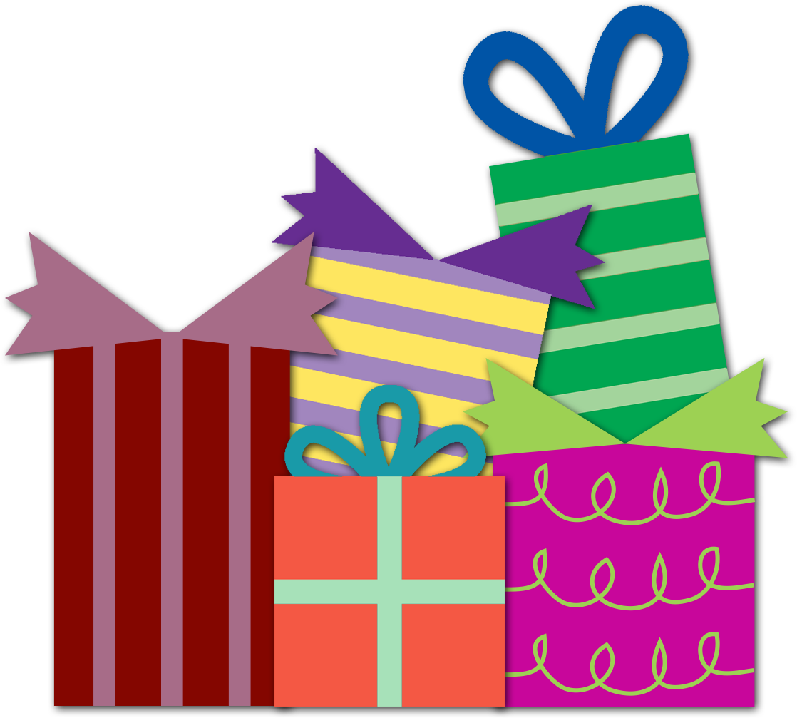 1118x1007 Gift Christmas Book T Clipart Clipartfest