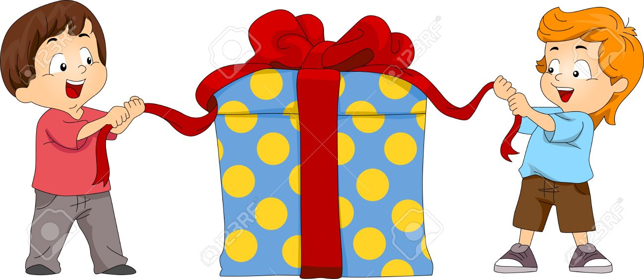 1300x564 Gift Clipart Opening Presents