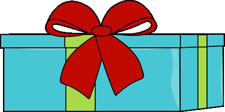 450x225 Blue Christmas Gift Clip Art
