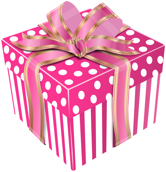 579x600 Cute Pink Gift Box Transparent Png Clip Art Image Gift Boxes