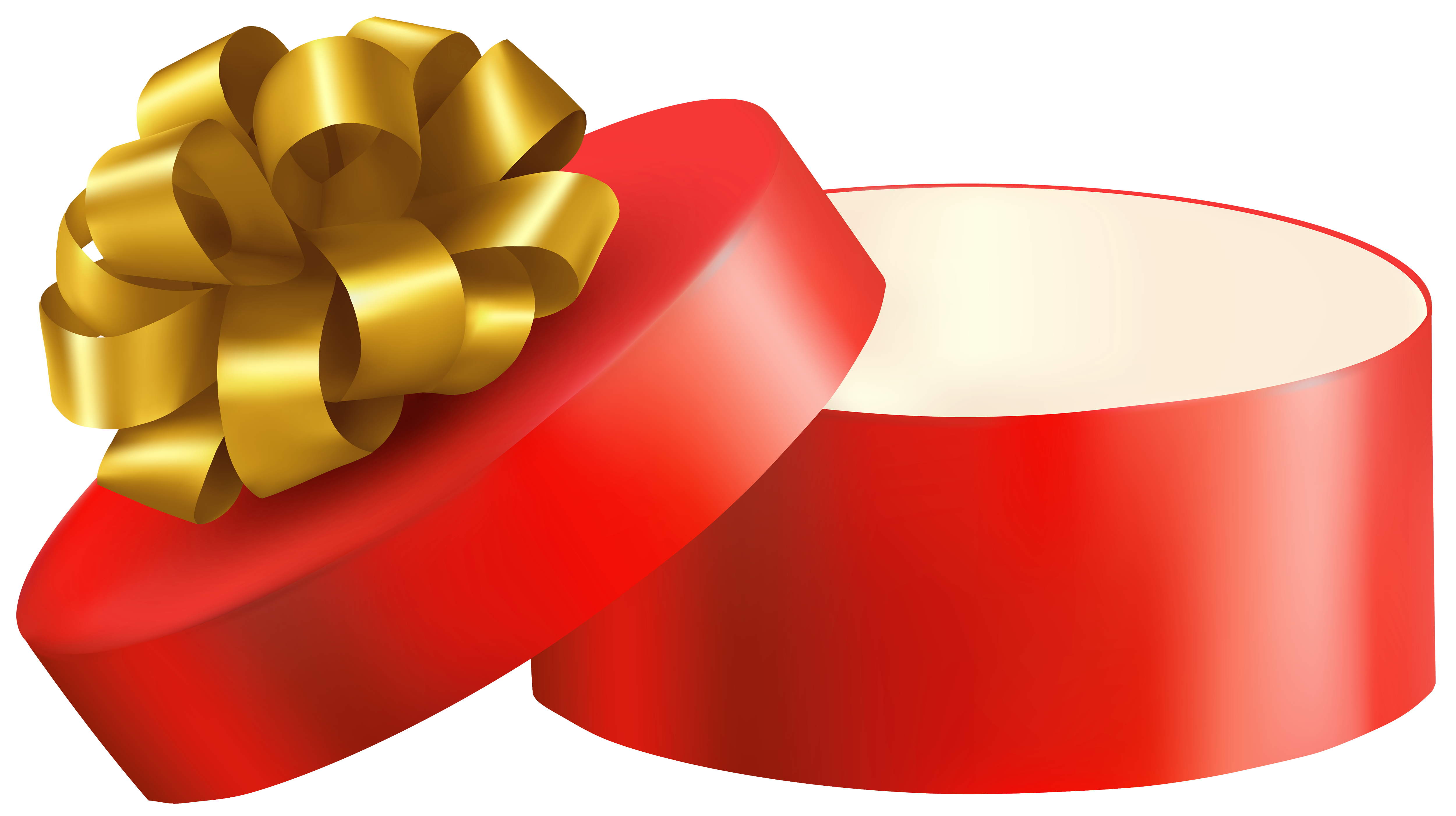 5000x2801 Red Open Gift Png Clipart