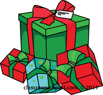350x323 Christmas Presents Clipart Kid