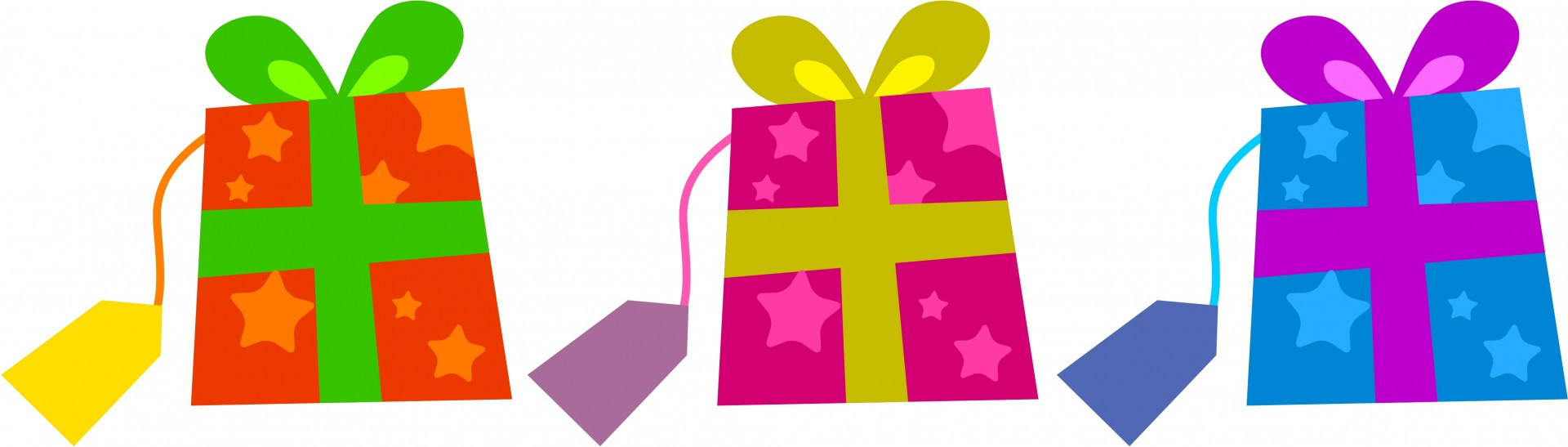 1920x547 Colourful Gifts Clip Art Free Stock Photo