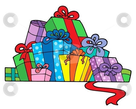 450x361 Gift Clipart Stack Christmas Presents