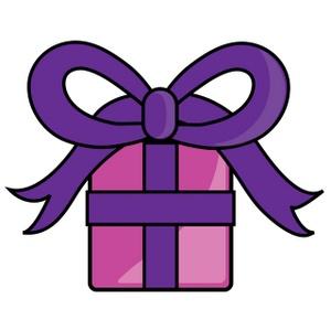 300x300 Christmas Gift Box Clip Art
