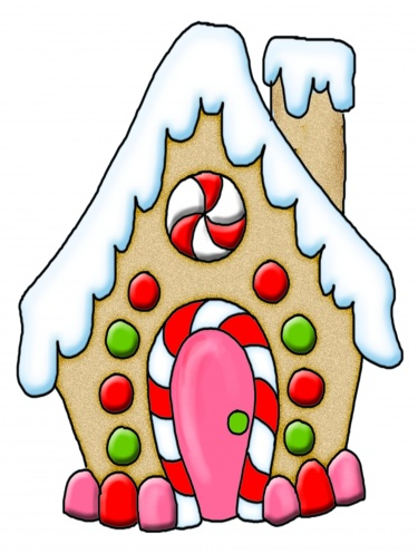 375x497 Gingerbread House Clipart