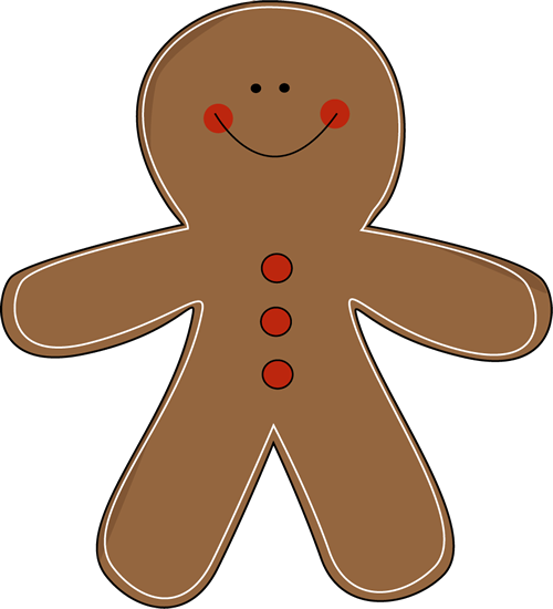 500x550 Gingerbread Man Clip Art