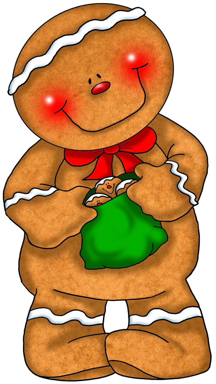 721x1280 Transparent Gingerbread With Green Bag Png Clipartu200b Gallery