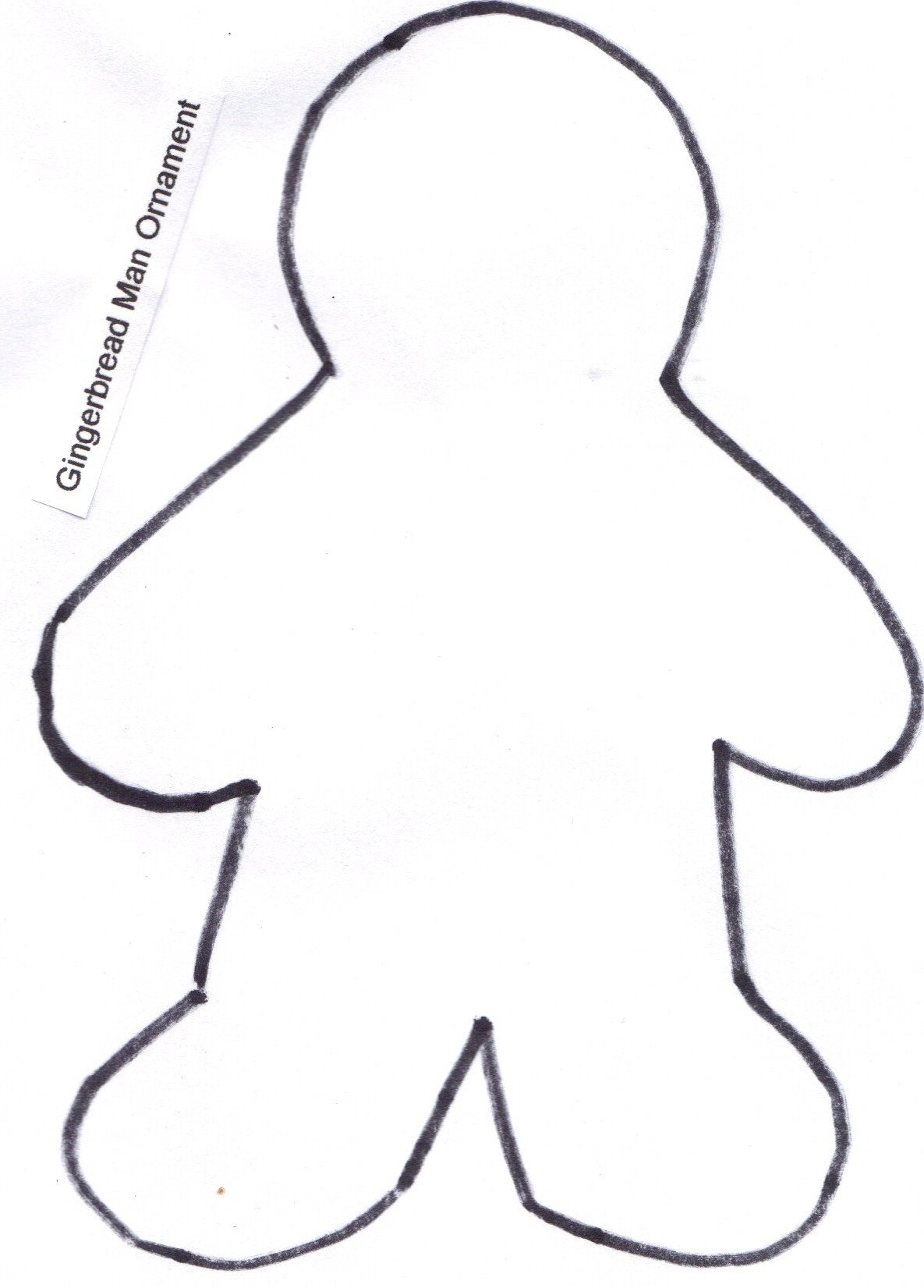 Ginger Bread Man Outline