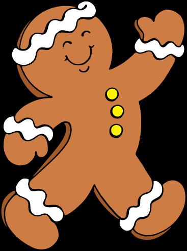367x492 Free Gingerbread Man Clip Art 2