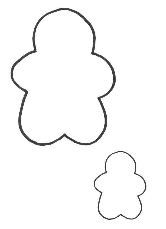 576x792 Gingerbread Man Coloring Pages