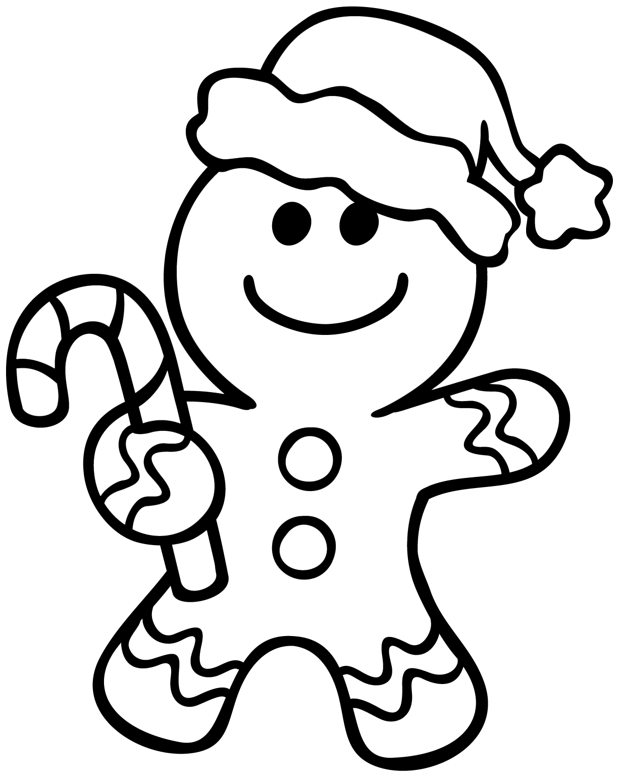 1228x1540 Gingerbread Man Coloring Pages