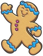 178x230 Gingerbread Man Blue Clipart Panda