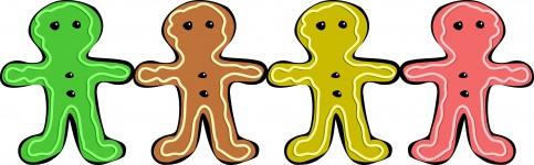 483x150 Gingerbread Man Free Stock Photo