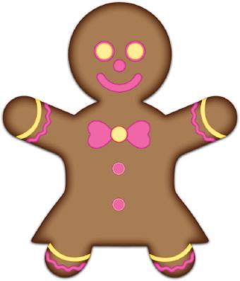 340x397 Gingerbread Man Clipart Free Download Clip Art
