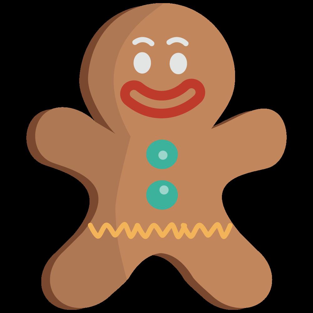 1000x1000 Gingerbread Man Gingerbread Clip Art Clipartix