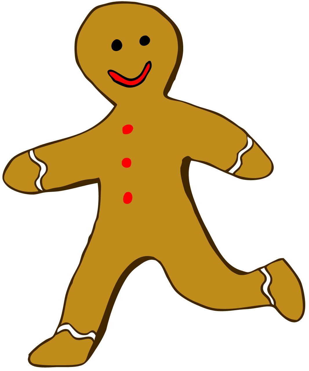 1066x1281 Gingerbread Man Running Clipart