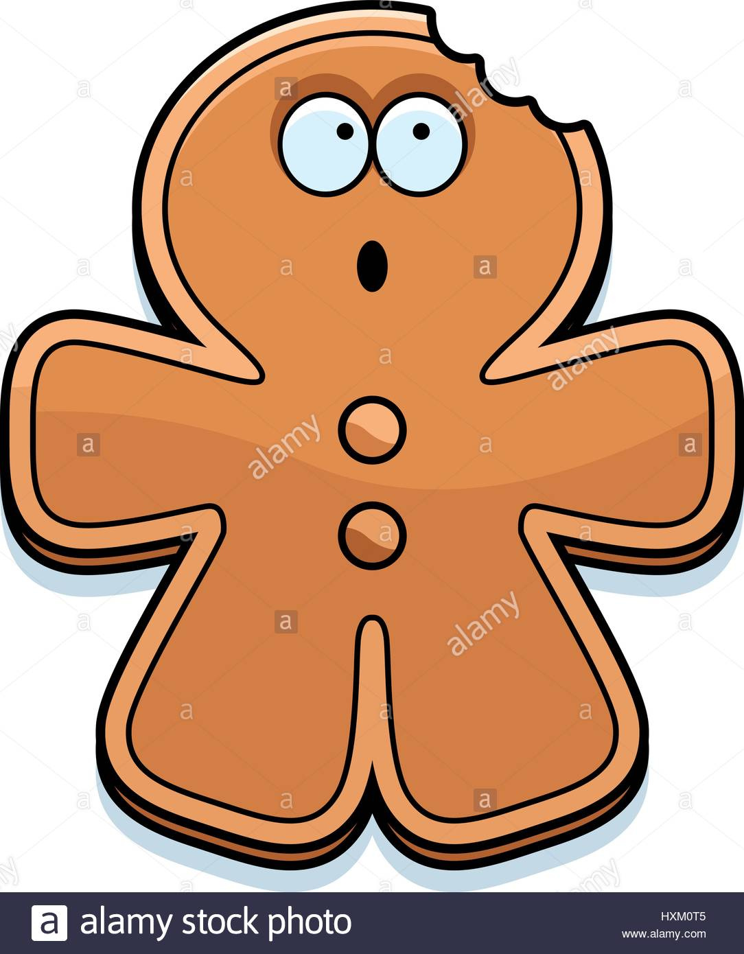 1084x1390 A Cartoon Illustration Of A Gingerbread Man With A Bite Taken Out