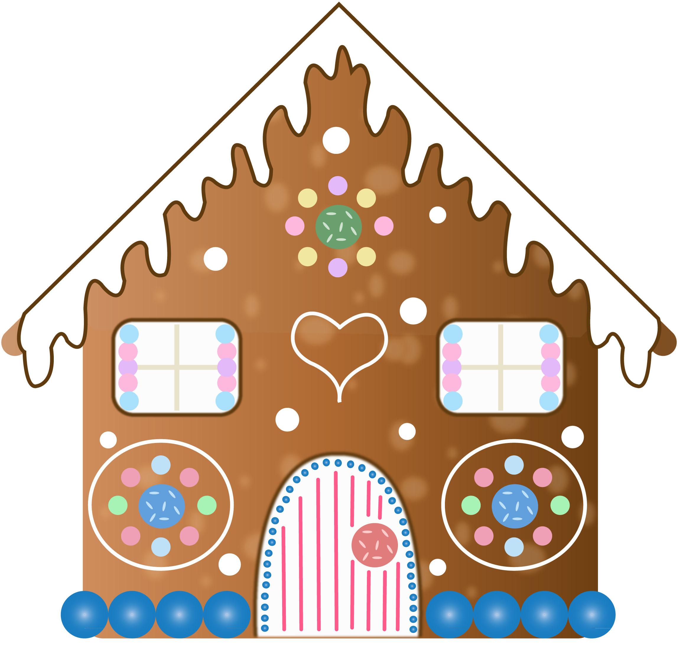 2295x2262 Gingerbread House Clip Art