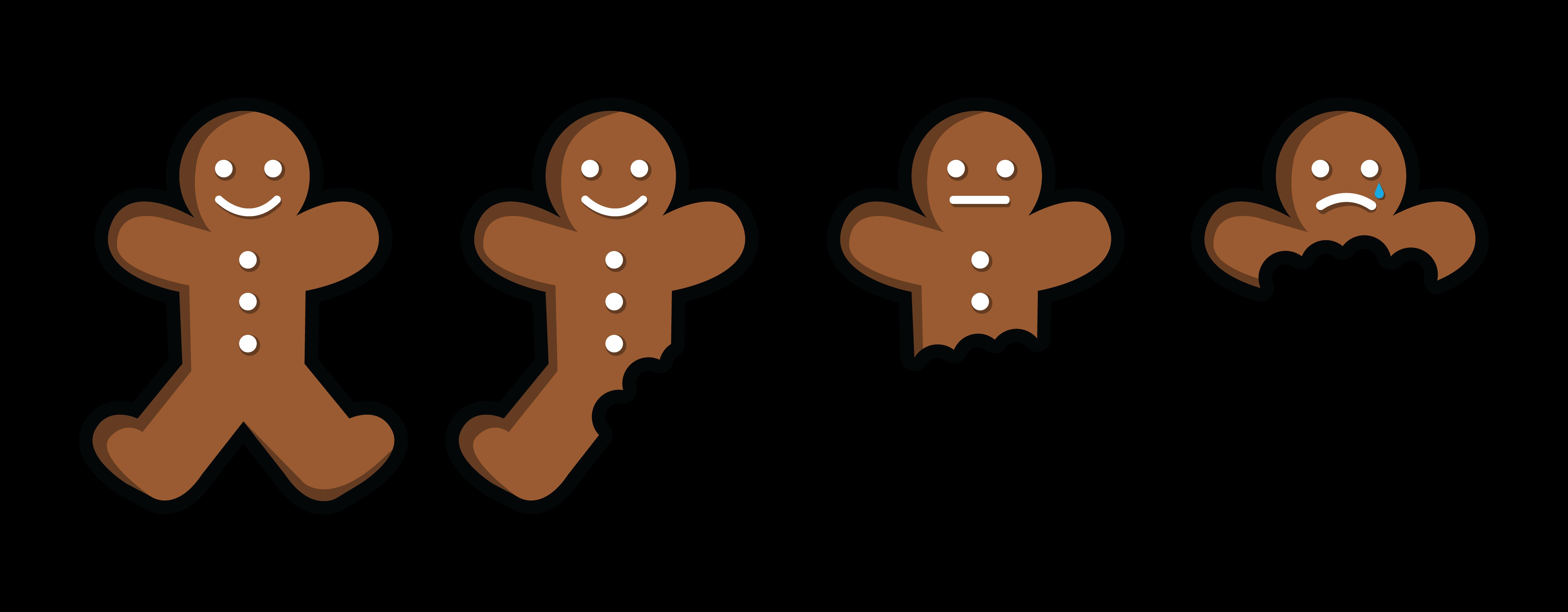 6400x2500 Gingerbread Clipart Eaten
