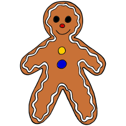 250x250 Gingerbread Clipart Reading