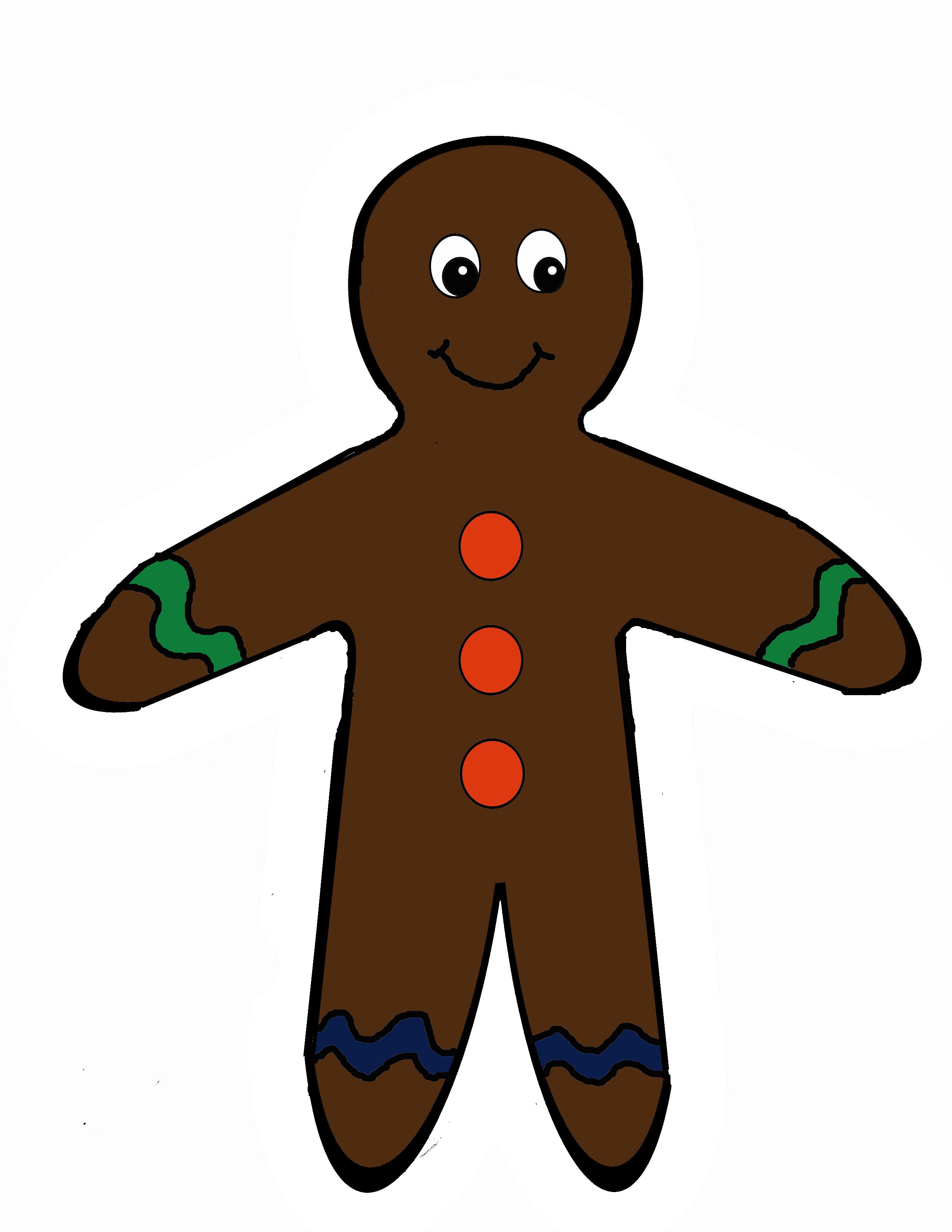 2550x3300 Scissor Cutting Gingerbread Man