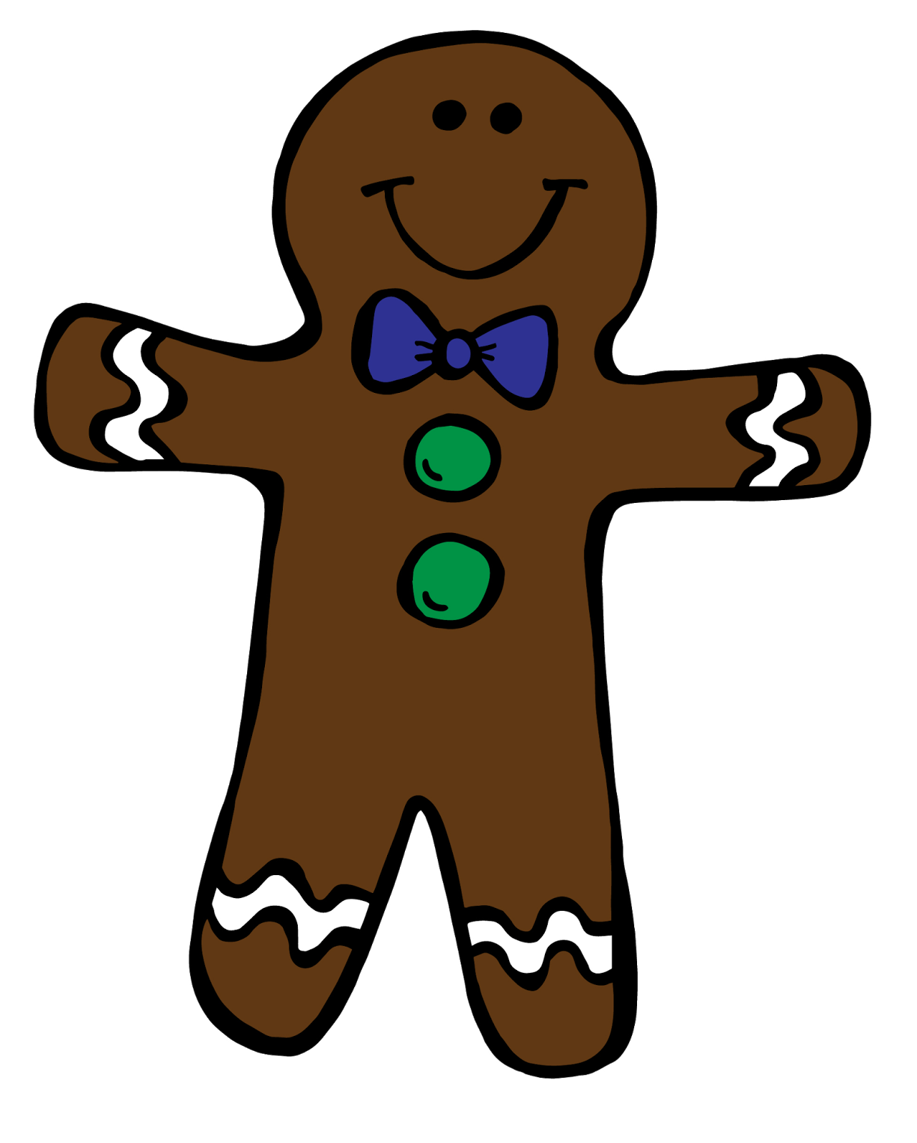 1284x1600 Cute Gingerbread Girl Clipart