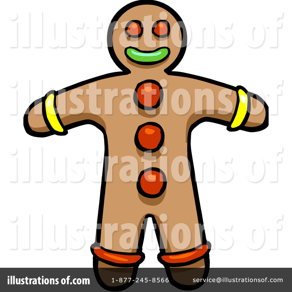 1024x1024 Gingerbread Man Clipart