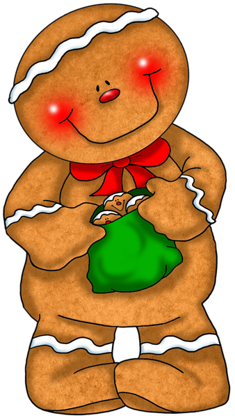 338x600 Gingerbread Boys And Girls On Gingerbread Man Clip Art