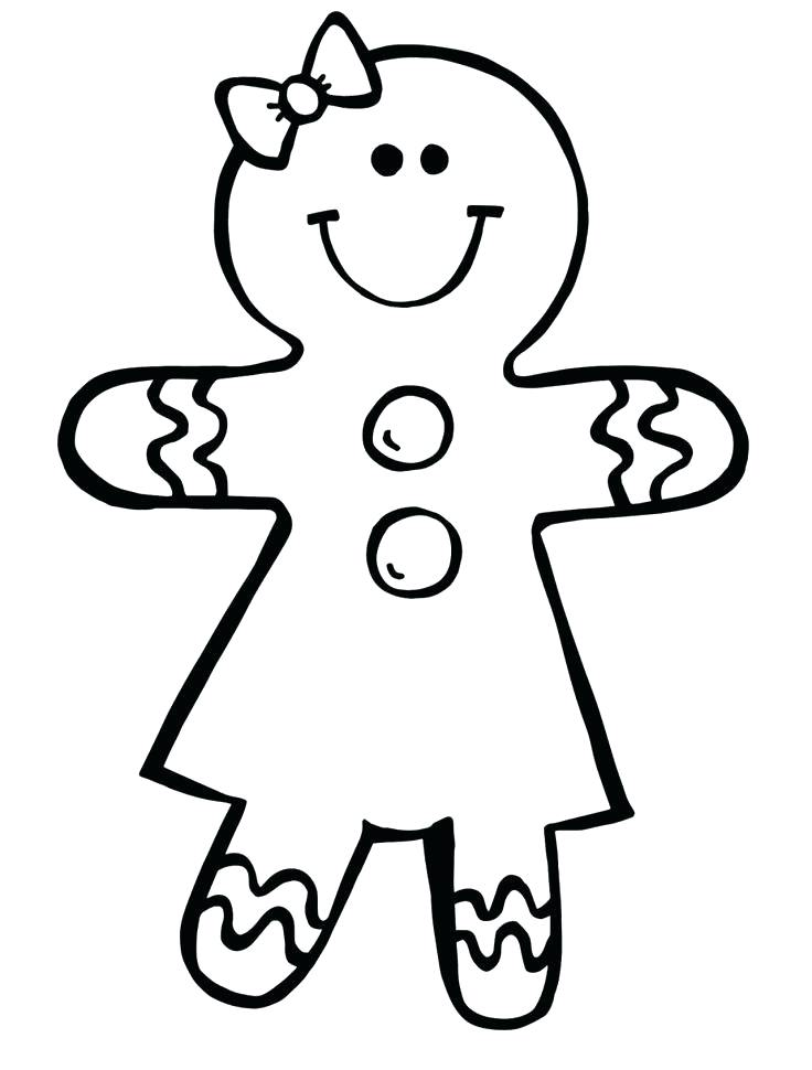 736x970 Printable Gingerbread Man Coloring Page For Kids Pictures Free