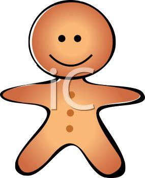 285x350 Royalty Free Clip Art Image Cute Cartoon Of A Gingerbread Man