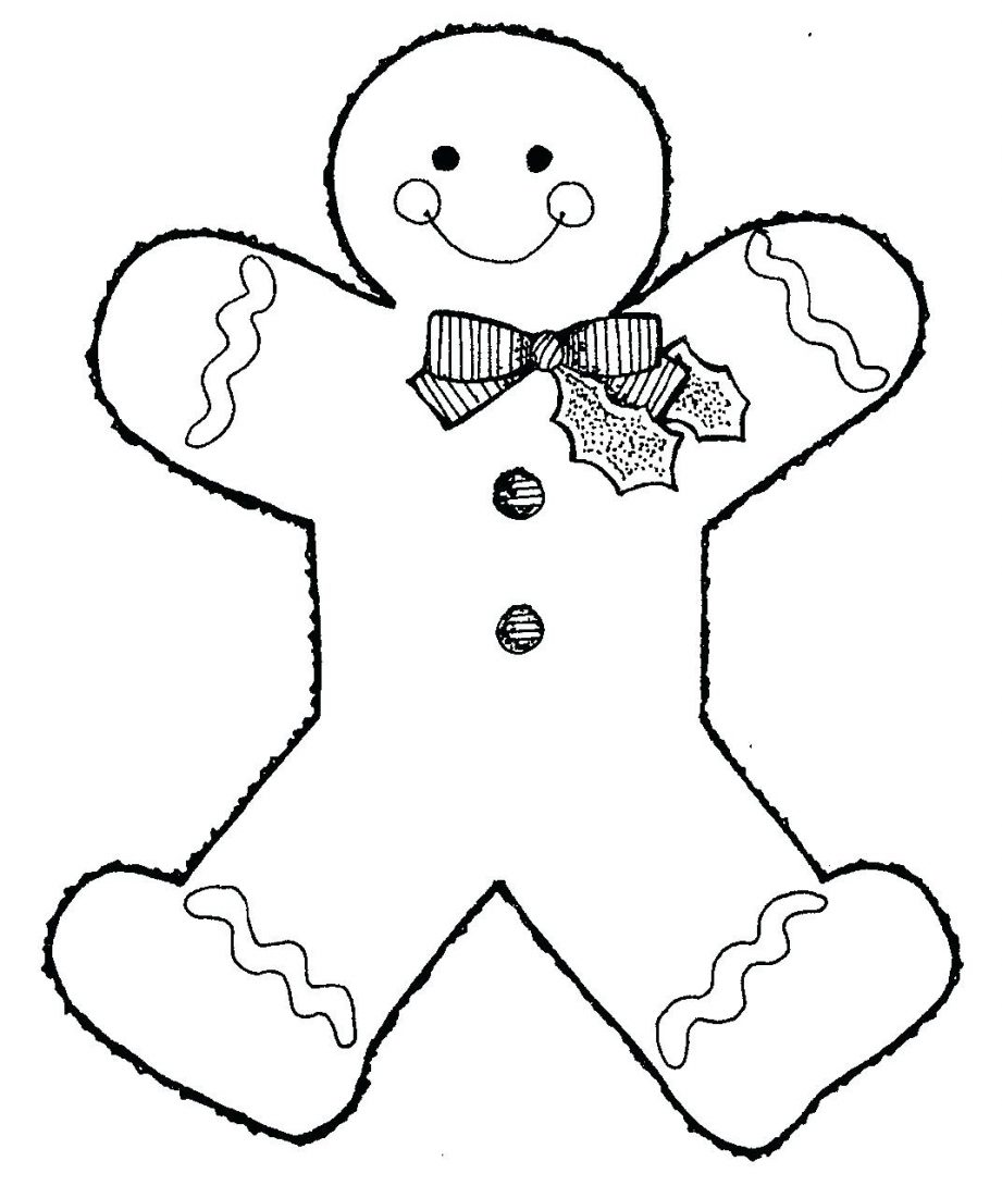921x1101 Coloring Pages Blank Gingerbread Man Coloring Pages Blank