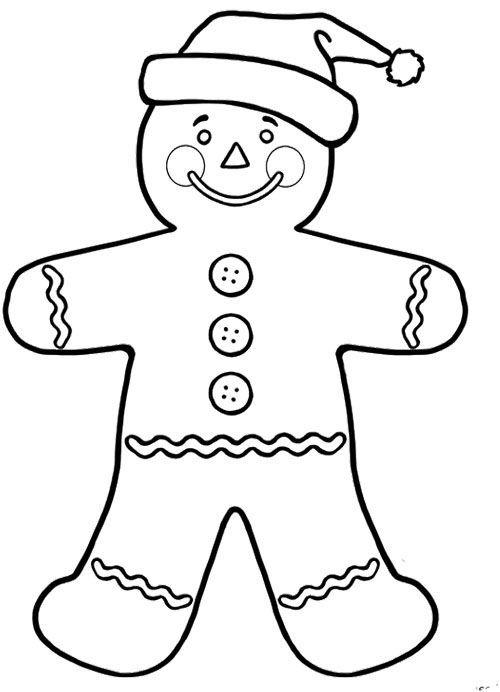 500x692 Gingerbread Man And Santa Hat Christmas Santa Hat