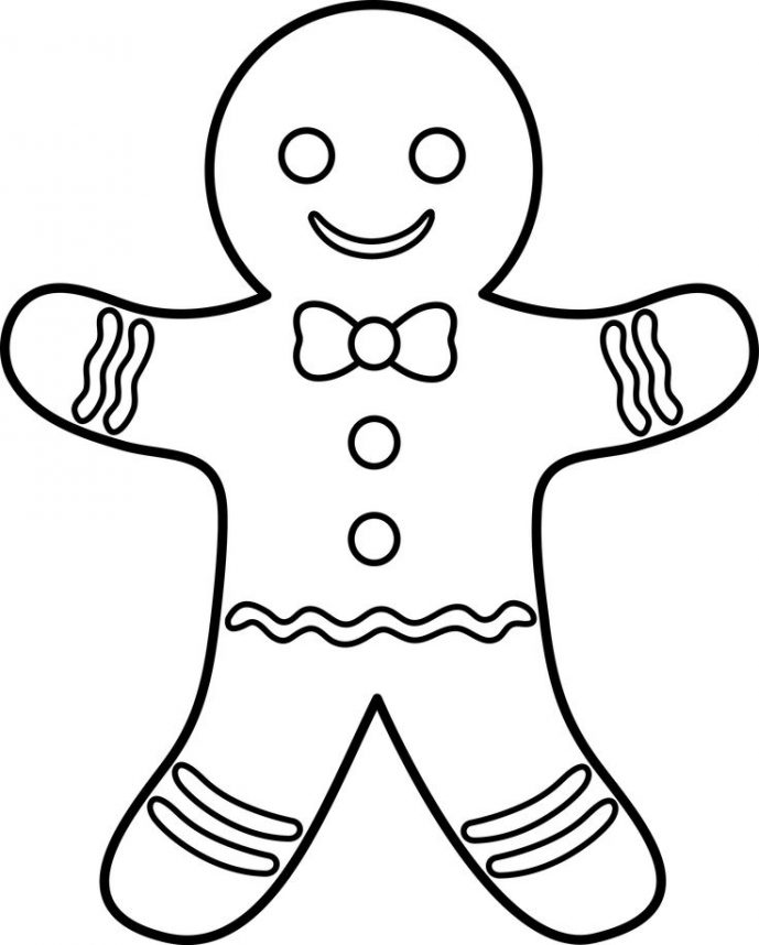 689x858 Glamorous Gingerbread Man Coloring Pages Page Gingerbread Man