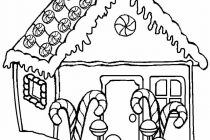 210x140 Gingerbread House Coloring Page Printable Gingerbread House