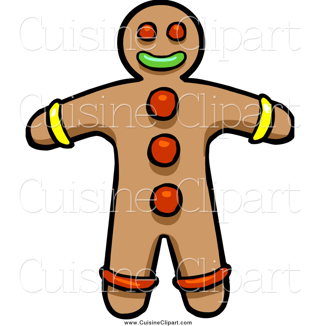1024x1044 Cuisine Clipart Of A Gingerbread Cookie Man By Cartoon Solutions