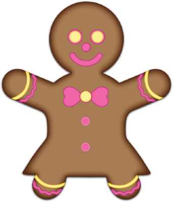 340x397 Gingerbread Clipart Men And Woman