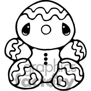 300x300 Gingerbread Man Clip Art
