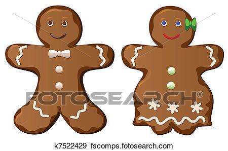 450x298 Clip Art Of Gingerbread Cookies K7522429