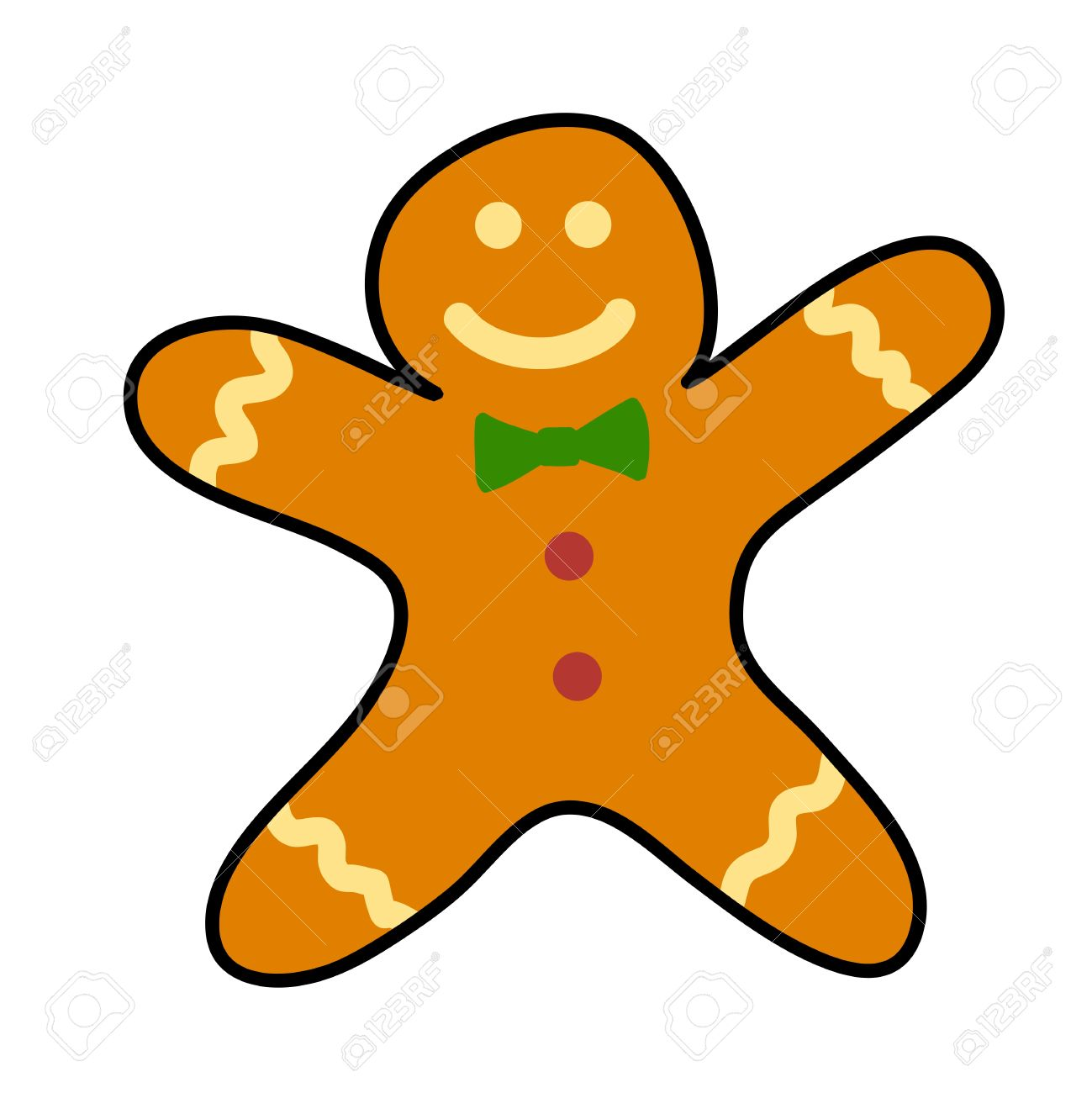 1299x1300 Gingerbread Cookies Hand Writing Cartoon. Royalty Free Cliparts