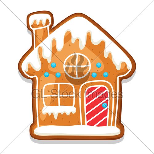 500x500 Gingerbread Cookies House. Illustration Of Merry Christma Gl