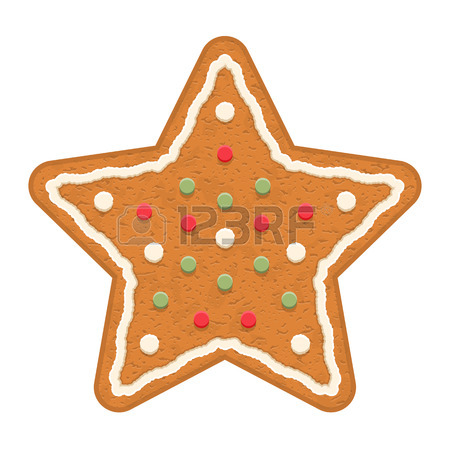 450x450 Gingerbread Star, Traditional Christmas Cookie Royalty Free
