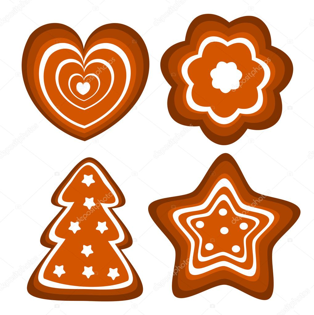 1019x1024 Gingerbread Cookies Vector Stock Vector Studiobarcelona