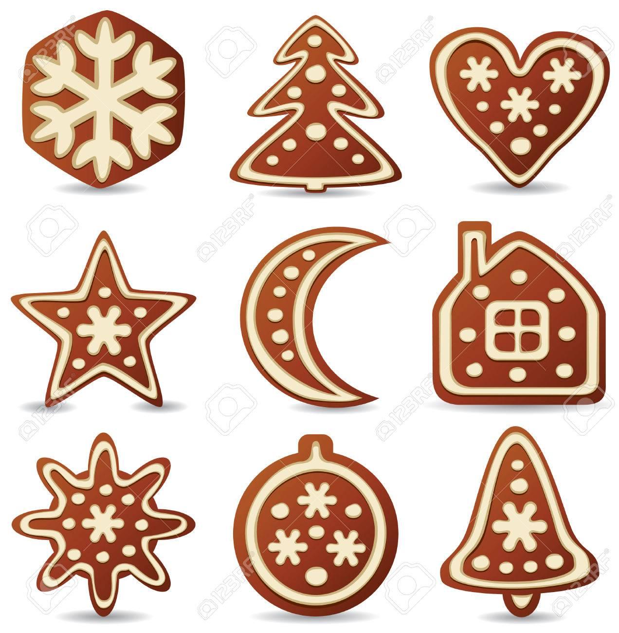 1272x1300 Set Of Nine Gingerbread Cookies Royalty Free Cliparts, Vectors