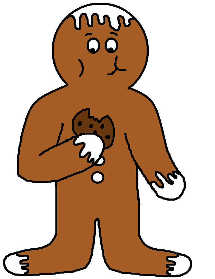 814x1056 Free Gingerbread Man Cliparts