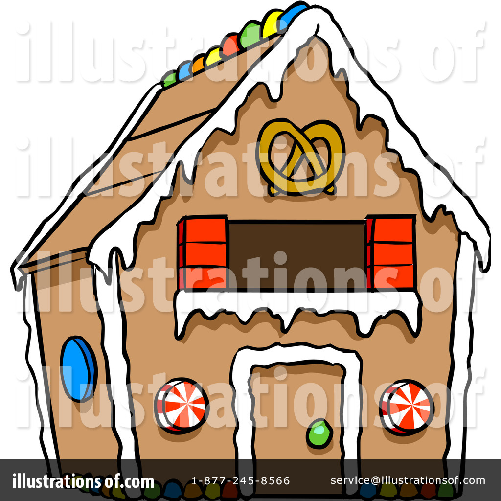 1024x1024 Gingerbread House Clipart